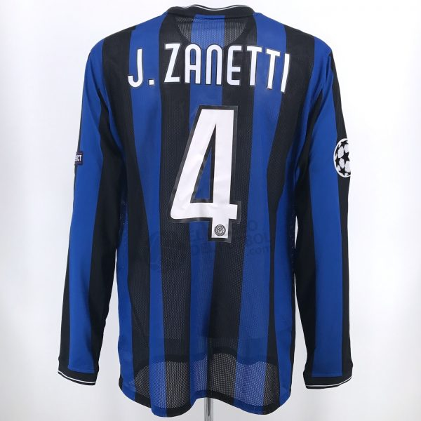 48119a05b0fd7 Inter Milan 09-10 Home Shirt ZANETTI vs Rubin Kazan – El Museo del ...