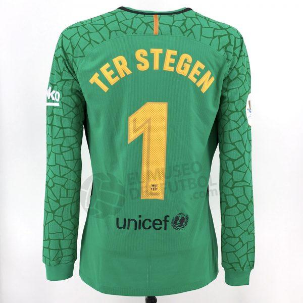 2e12849c1a5 Fc Barcelona 17-18 Goalkeeper Green Shirt TER STEGEN LS Supercopa ...