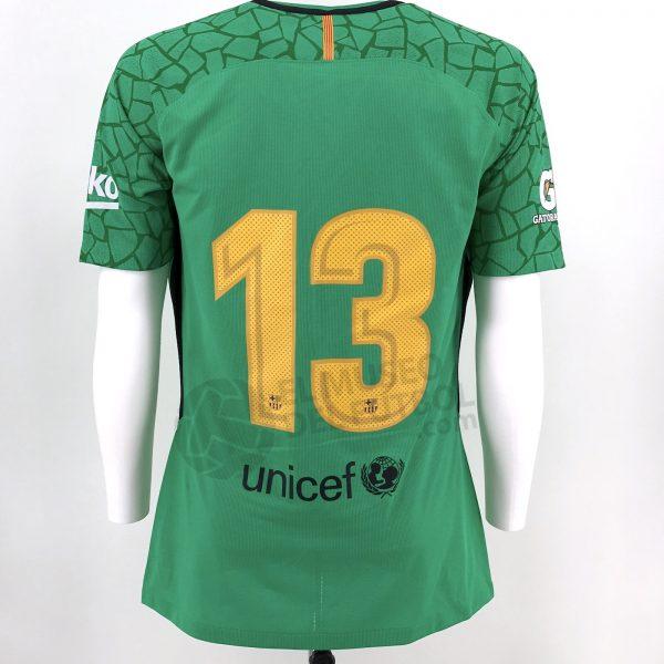 9e3ec322bb6 Fc Barcelona 17-18 Goalkeeper Green Shirt CILLESSEN SS Preseason*.  IMG_6962. 1501383409481. IMG_6963