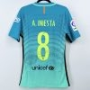 2016-17 Fc Barcelona Third Shirt #8 A. INIESTA La Liga