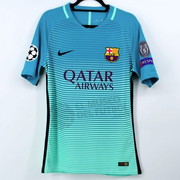 2016-17 Fc Barcelona Third Shirt #10 MESSI Champions League