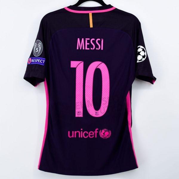 2016-17 Fc Barcelona Away Shirt #10 MESSI Champions League