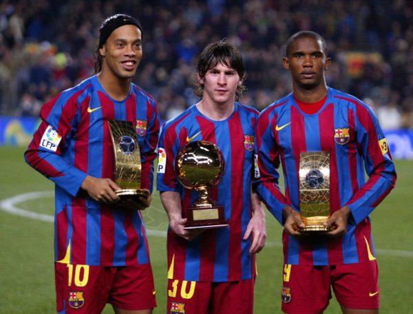 Ronaldinho, Messi, Eto'o