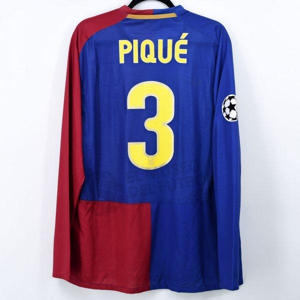 2008-09 Fc Barcelona Home Shirt #3 PIQUÉ Champions League