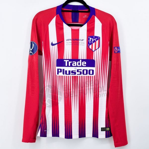 2017-18 Atletico  Madrid Home Shirt #17 GRIEZMANN Supercup vs Real Madrid