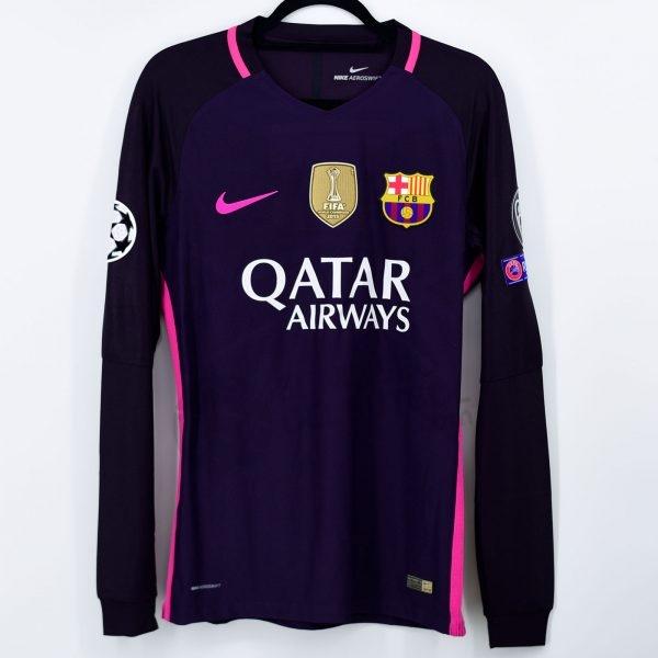 2016-17 Fc Barcelona Away Shirt #12 RAFINHA Champions League