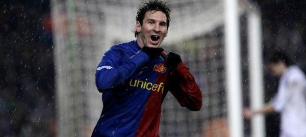 2008-09 Fc Barcelona Home Shirt #10 MESSI (Marato)